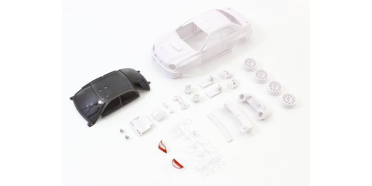 Impreza WRC 2002 ホワイトボディセット未塗装ホイル付 MZN200