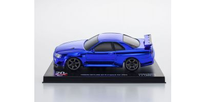 MINI-Z 20th Anniversary Auto scale collection for MINI-Z AWD MA-020 series MINI-Z AWD Sports NISSAN SKYLINE GT-R V・Spec Ⅱ Nur (R34) Chrome Blue Special Edition MINI-Z 20th Anniversary  MZP427CBL