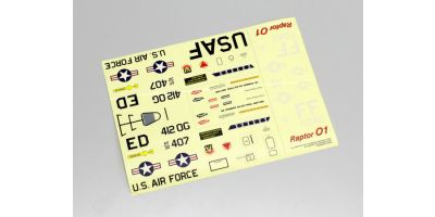 デカール (F22 ラプター / F-16エドワーズ DF55)  10281R-03