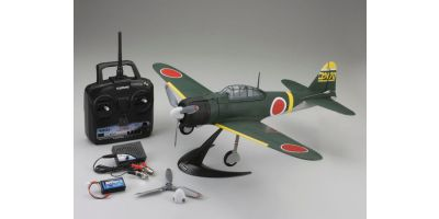 1/17 Scale SUPER SCALE FLYING MODEL aiRium A6M2b ZERO VE29 readyset with battery and charger (Green) 10953RSBC-G