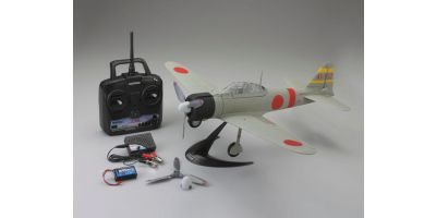 1/17 Scale SUPER SCALE FLYING MODEL aiRium A6M2b ZERO VE29 readyset with battery and charger (Light Grey) 10953RSBC-L