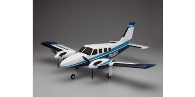 900mm Size Super Scale Flying Model PIPER PA34 VE29Twin Blue 10961BL