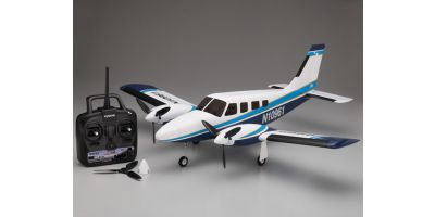 900mm Size Super Scale Flying Model PIPER PA34 VE29Twin readyset with battery and charger<Blue> 10961RSBC-BL