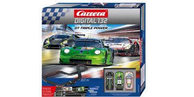 1/32 スロットカー カレラ Digital132 GT Triple Power (1/32スロットカー3台入り)20030007