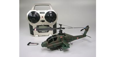 EP Micro Helicopter Minium AD CALIBER 120 Type A Green Camouflage Readyset  20104RS-M1GC