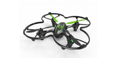 EP Micro Quadcopter HUBSAN X4 Cam readyset Black/Green  20154BG