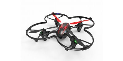 EP Micro Quadcopter HUBSAN X4 Cam readyset Black/Red  20154BR