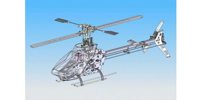 EP 400 Class HELICOPTER EP CALIBER 450V Ver.M II (with Ver.M II type  metal rotor head) 20450M2