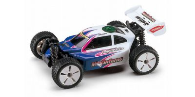 1/16 R/C ELECTRIC POWERED 4WD RACING BUGGY MINI INFERNO COLOR TYPE1 / WHITE 30121T1