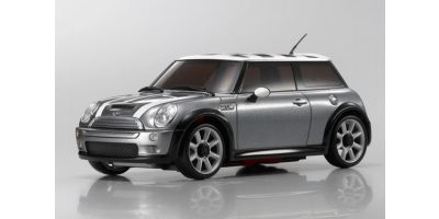 R/C EP TOURING CAR MINI COOPER S Dark Silver(with chequered and bonnet stripes) 30385CS