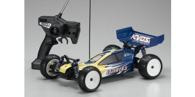 R/C ELECTRIC POWERED 4WD RACING BUGGY LAZER ZX-5 readyset Yellow Blue 30861T2