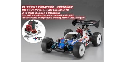 GP 4WD RACING BUGGY INFERNO MP9 TKI2 KIT Jared Tebo SP Combo Set (TQ) with ALPHA CRF21 Engine 31785JT