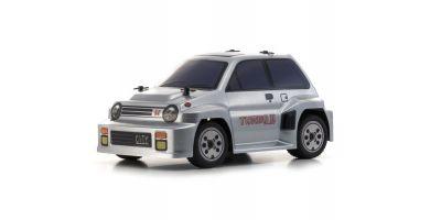 コミックレーサー MB-011+D ASF ボディ/シャシーセット Honda シティ ターボ II シルバー【ドリフトタイヤセット付属】 32253BCS