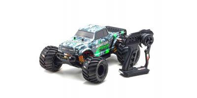 1/10スケール 電動ラジオコントロール 2WDモンスタートラック レディセット モンスタートラッカー カラータイプ1 KT-232P付き 34403T1