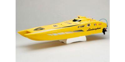 ランボルギーニ C-1 CAT GP28 FRP船体 半完成  41462
