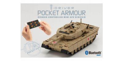 ポケットアーマー i-driver 陸上自衛隊 90式戦車 デザートブラウン 1/60 EP レディセット 69030D