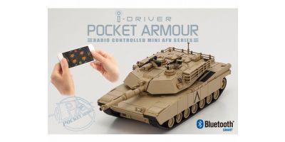 ポケットアーマー i-driver M1A2エイブラムス デザートブラウン 1/60 EP レディセット 69050D