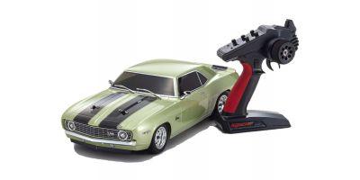 1/10 Scale Radio Controlled Electric Powered 4WD FAZER Mk2 FZ02 Series Readyset 1969 Chevy® Camaro® Z/28  Frost Green 34418T2