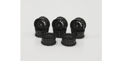 Aero 24 Wheel (15-Spork/Bluck) 8pc 92012-8BK