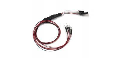 LEDライトユニット (Φ5 / 4灯 / L=400 / レッド) 97054-4R