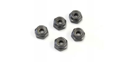 Nut(M2.6x3.0)Nylon(Aluminum/Gunmetal/5pc 1-N2630NA-GM