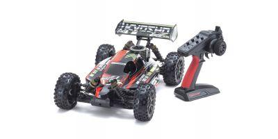 1/8スケール ラジオコントロール GP 4WDレーシングバギー レディセット インファーノ NEO 3.0 カラータイプ2 レッド KT-231P+付き 33012T2