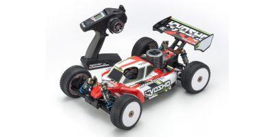 1/8スケール ラジオコントロール 21エンジン 4WDレーシングバギー レディセット インファーノ MP9 TKI4 カラータイプ1 レッド 33014T1