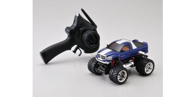 R/C Electric Monster Truck ASF2.4GHz MINI-Z MONSTER EX Dodge Ram metalic blue 30091MB