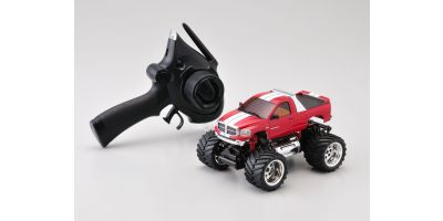 R/C Electric Monster Truck ASF2.4GHz MINI-Z MONSTER EX Dodge Ram Metalic red 30091MR