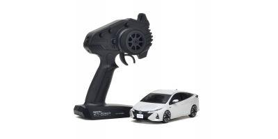 MINI-Z FWD Toyota PRIUS PHV White Pearl Crystal Shine Readyset RTR 32423PW