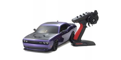1/10 Scale Radio Controlled Electric Powered 4WD FAZER Mk2 FZ02L Series readyset DODGE Challenger SRT Hellcat Plam Crazy Purple 34415T1