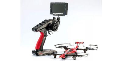 ドローンレーサー DRONE RACER G-ZERO (ジーゼロ) シャイニングレッド オンボードモニター コンボセット レディセット 20571R-OM