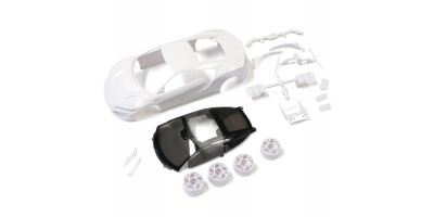 Honda NSX White body set(w/Wheels) MZN186