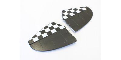 水平尾翼セット ブラック(ピッツスペシャル EP1000) A6578-13BK