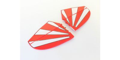 Horizontal wing Set Red A6578-13R
