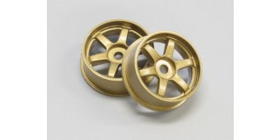 Wheel Set (18/Front/Gold/2Pcs/dNaNo) DNH001G-18F