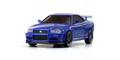 R/C EP RACING CAR NISSAN SKYLINE GT-R V-SpecII Nur (R34) Metallic Blue 32401MB