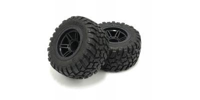 GluedTire & Wheel Set (RAGE2.0/BK/2pcs) FATH501BK