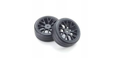 Premounted TC Tire FZ02 (M/2pcs) FATH701BKM