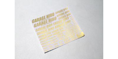 「GARAGE HIRO」 ロゴデカール Ver.1 ゴールド KOS-GHD003
