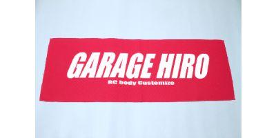 「GARAGE HIRO」 ロゴビックタオル Ver.4 800x420mm KOS-GHG012