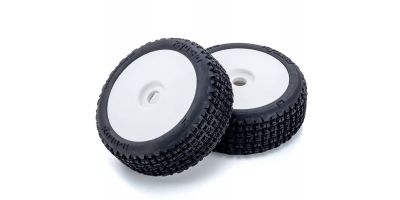 Dish Wheel with Tire(White/K-BLOX/2pcs) IFTH005W