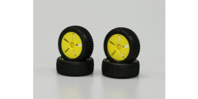 Tire with Yellow Wheel (Mini Inferno) IHTH01Y