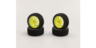 Micro Bock Tire with White Wheel (Yellow IHTH02Y