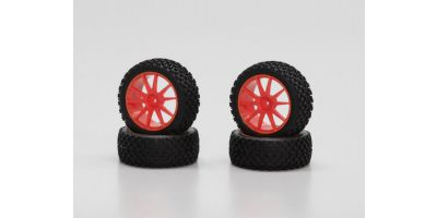 X-Pattern Tire With Wheel(Orange/Mini In IHTH03KO