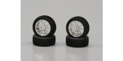 X-Pattern Tire With Wheel(Chrome Plated/ IHTH03SM