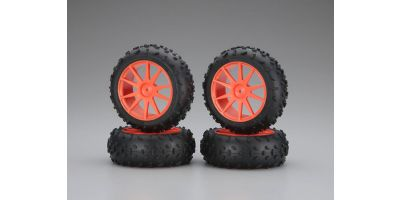 High Traction Tire With Wheel(Orange/Min IHTH06KO
