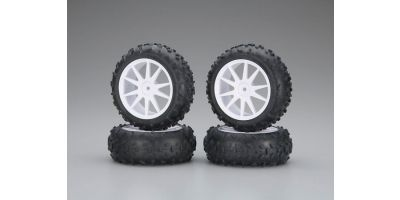 High Traction Tire With Wheel(White/Mini IHTH06W