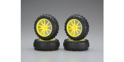 High Traction Tire With Wheel(Yellow/Min IHTH06Y