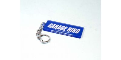 「GARAGE HIRO」 ロゴキーホルダー Ver.2 23x61mm KOS-GHG002